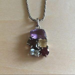 925 Silver Gemstones Necklace